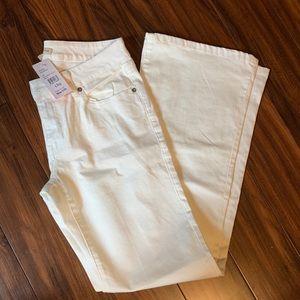 NWT cAbi White Wide Leg Jeans size 6